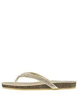 Monsoon Katrina Embellished Footbed