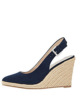 Monsoon Sasha Sling Back Wedge Shoe