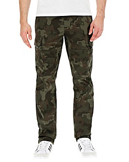 Utility Camo Cargo Trousers 29in