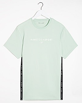 Pink Soda Cora Tape Boyfriend T-Shirt