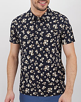 All Over Ditsy Printed Polo Long