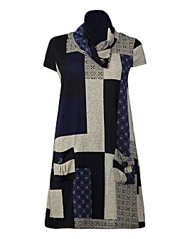 Izabel London Curve Abstract Print Tunic