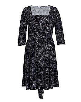 Blue Vanilla Curve Square Neck Dress