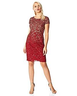 Roman Ombre Sequin Shift Dress