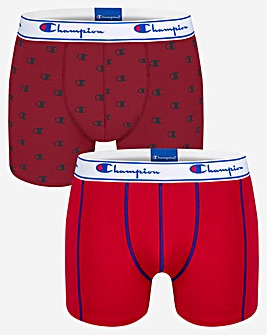 Champion Legacy Mix Print 2 Pack Boxer