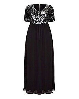 Mela London Curve Sequin Maxi Dress