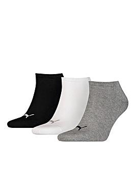 Puma Unisex Sneaker 3 Pack Plain Socks