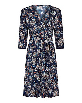 Yumi Curves Abstract Floral Dress