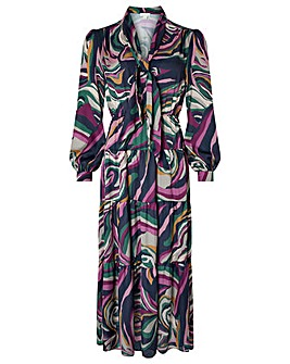 Monsoon Maddie Marble Tier Midaxi Dress