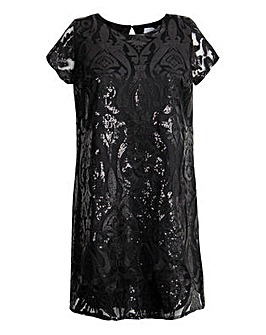Lovedrobe GB Sequin Shift Dress