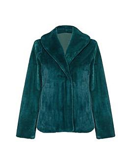 Yumi Curves Fur Collar Short Jacket