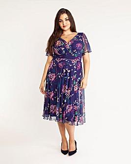 Scarlett & Jo Print Midi Dress