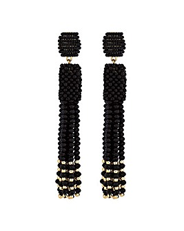 Mood Beaded Tassel Drop Earring
