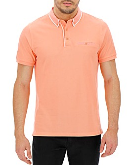 Trim Detail Coral Polo Long