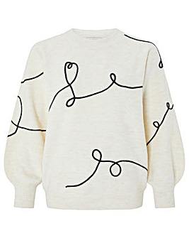 Monsoon Emma Cornelli Heart Jumper