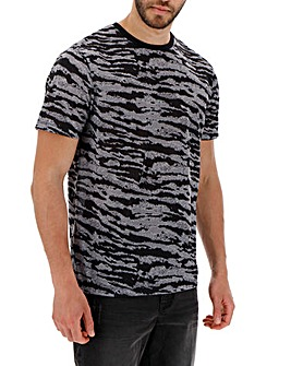 Animal Print Sublimation T-shirt Long