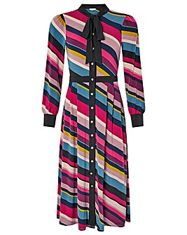 Monsoon Sonique Stripe Print Midi Dress