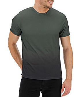 Khaki Faded Sublimation T-shirt Long