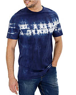 Navy Marl Tie Dye T-shirt Long