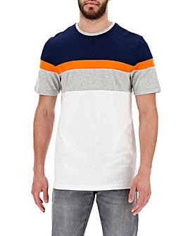 Neon Colour Block Crew Neck T-shirt Long