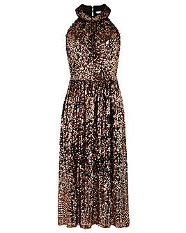 Monsoon Scarlett Sequin Midi Dress