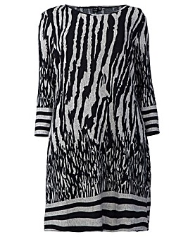 Izabel London Curve Abstract Print Tunic