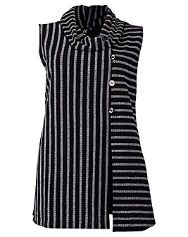 Izabel London Curve Stripe Knit Tunic