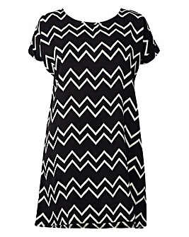 Izabel London Curve Print Shift Dress