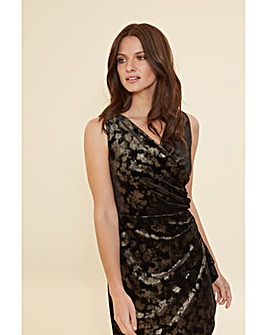Gina Bacconi Cambria Velvet Wrap Dress