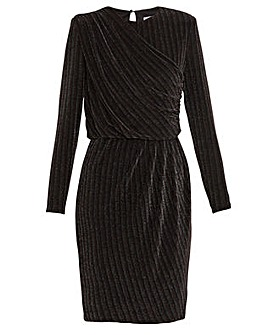 Gina Bacconi Raya Metallic Stripe Dress