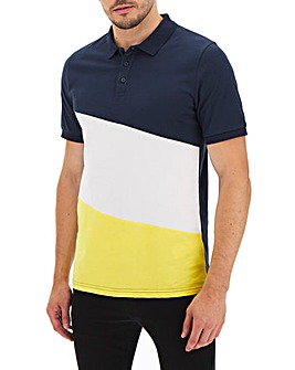 Cut and Sew Polo Shirt