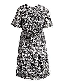 Koko Animal Print Tie Front Dress