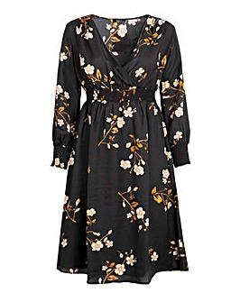 Koko Floral Shirred Midi Dress
