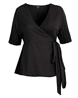 Koko Black Wrap Top