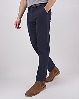 "New and Improved Micro Printed Belted Chino 31"" with Softer Stretch Fabirc"
