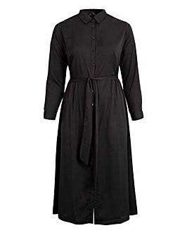 Koko Black Maxi Shirt Dress