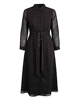 Koko Polka Dot Maxi Shirt Dress