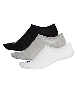 adidas 3 Pack No Show Socks