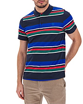 Stripe Pique Polo Long