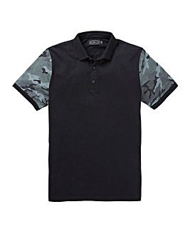 Label J Camo Sleeve Polo Regular