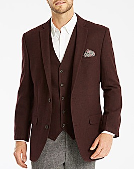 Jacamo Black Label Tweed Wool Blazer R