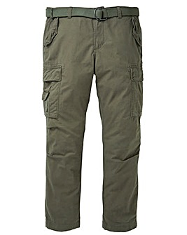 Jacamo Khaki Ambrose Cargo Pant 31in