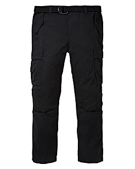 Jacamo Black Ambrose Cargo Pant 31in