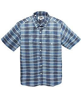 Jacamo Fletcher S/S Check Shirt Long