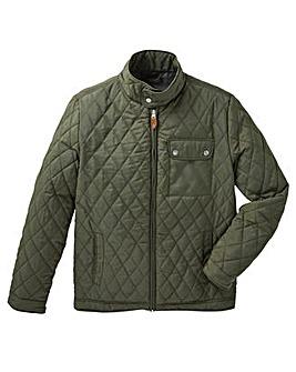 Jacamo Khaki Beattie Quilted Jacket Long