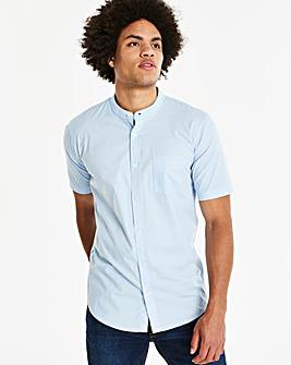 Capsule Stretch S/S Grandad Shirt L