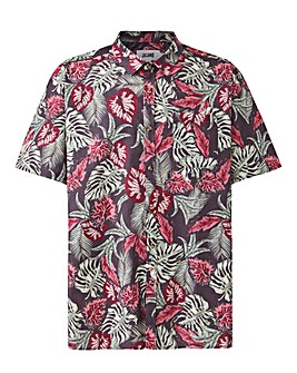 Dark Floral Short Sleeve Shirt