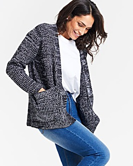 Black/White Boxy Edge to Edge Cardigan