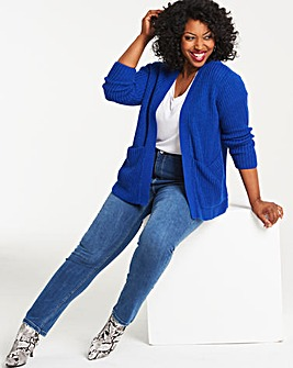 Cobalt Boxy Edge to Edge Cardigan
