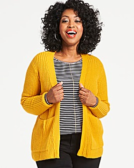Saffron Boxy Edge to Edge Cardigan